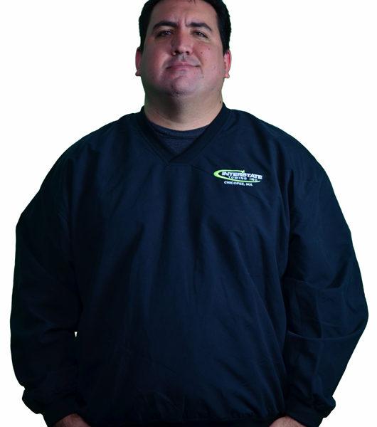 Men's Lightweight V-Neck Black Pullover