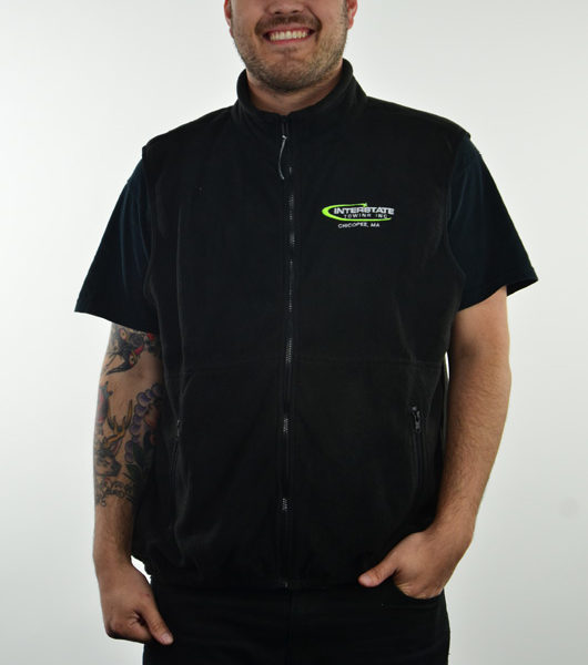 Men's Embroidered Sleeveless Fleece