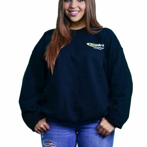 Women's Black Crewneck Sweat Shirt