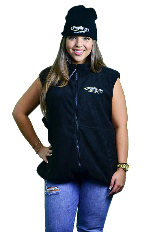 Women's Black Sleeveless Fleece