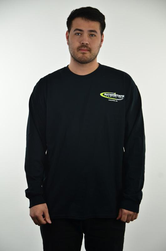 Men's Black Long Sleeved T-Shirt